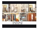 Jual BU Apartemen Atlanta Residence Margonda Depok - 1 Kamar Tidur Luas 34 m2 Fully Furnished