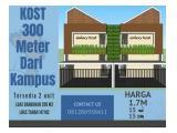 Dijual Rumah Kost 15 Kamar Strategis Dekat Kampus UNISMA Malang