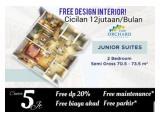 Dijual Apartemen Puri Orchard Jakarta Barat Semua Tipe, Cukup 5 Juta Full Interior / Furnished Langsung Huni - Tanpa DP dan Free Biaya Akad 3%